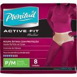 Roupa Íntima Plenitude - Active Fit - Feminina - 08 Unidades