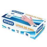 Luva De Vinil Com Pó - 100 Unidades - Bompack