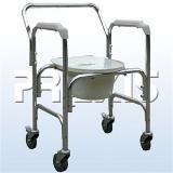 Cadeira de Rodas Higiênica para Banho em Alumínio com Coletor Fixa - Praxis