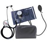 Esfigmomanômetro fecho metal com Estetoscópio - Premium